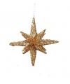 Gouden glitter 3d ster 7 5 cm