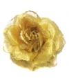 Gouden glitter bloem accessoire