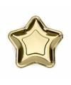Gouden kartonnen bordjes ster 18 cm