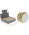 Gouden kralenslinger 2 mm