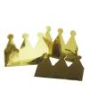 Gouden kroontjes van karton 6 stuks