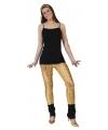 Gouden legging met puntige gaten