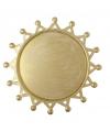 Gouden onderzet bord zon 19 cm