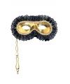 Gouden oogmasker op stokje