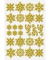 Gouden sneeuw vlokken stickervel