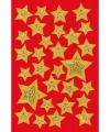 Gouden sterren stickers met motief