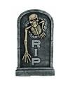 Grafsteen skelet met led ogen