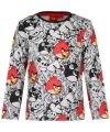 Grijs angry birds t shirt voor kinderen