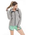Grijs gemeleerd fleece vest voor dames
