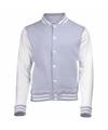 Grijs met wit college jacket voor heren