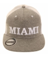 Grijze miami snapback pet