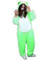 Groen beren kostuum voor volwassenen