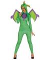 Groen draken kostuum voor dames