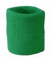 Groen zweetbandje voor de pols