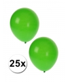 Groene ballonnen 25 stuks