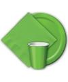 Groene borden 23 cm