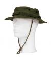 Groene bush hoed met extra drukknoop