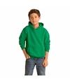 Groene capuchon sweater voor jongens