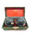 Groene chinese meridiaankogels yin yang in kistje