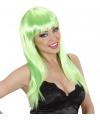 Groene damespruik met lang stijl haar