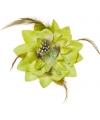 Groene hawaii bloem met veertjes