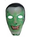Groene heks masker transparant