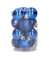 Groene kerstballen 12 stuks 3 cm
