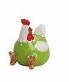 Groene kippen deco beeldje 8 cm