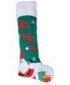 Groene mega kerstsok kerstman 100 cm