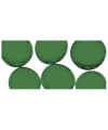 Groene mozaiek steentjes rond