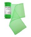 Groene organza stof op rol 12 x 300 cm