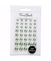 Groene plak parels 40 stuks voor het gezicht