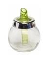 Groene suikerstrooier van glas