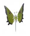 Groene vlinder op stok 59 cm