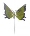 Groene vlinder op stok 74 cm
