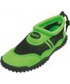 Groene waterschoenen met trekkoord