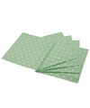 Groene wegwerp servetten met witte stippen 16st