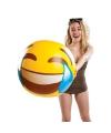 Grote emoticon strandbal 51 cm