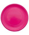 Grote kartonnen bordjes fuchsia roze 29 cm