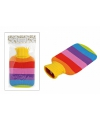 Grote kruik met regenboog kleuren