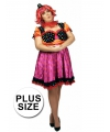 Grote maat clown antonella jurk voor dames