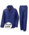 Grote maten blauw all weather regenpak voor volwassenen