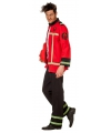 Grote maten brandweer kostuum voor heren