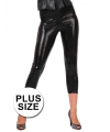 Grote maten capri legging zwart