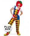 Grote maten clown pebbi kostuum tuinbroek