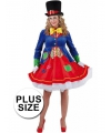 Grote maten clowns jurkje lucky voor dames
