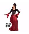 Grote maten halloween dracula kostuum voor dames