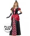 Grote maten hartenkoningin kostuum voor dames