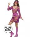 Grote maten hippie jurk voor dames