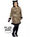 Grote maten luipaard jurkje voor dames